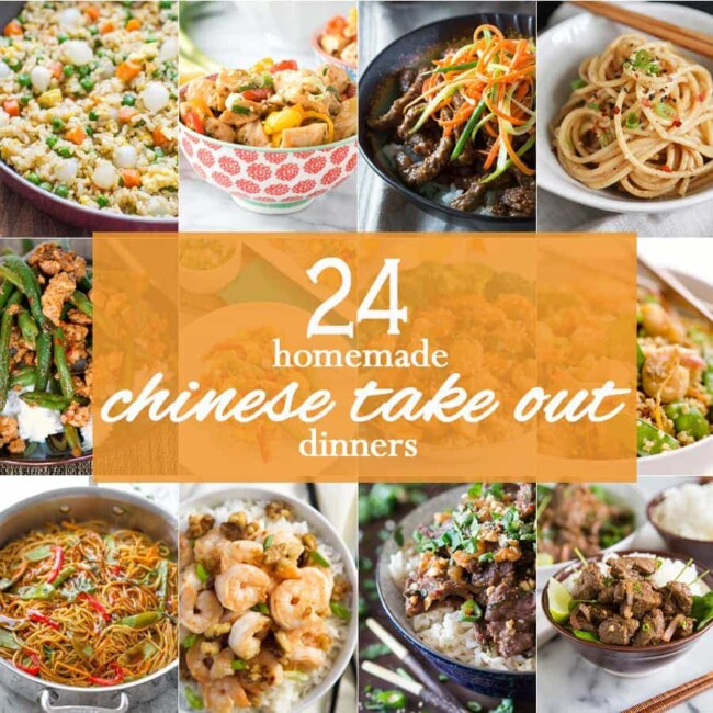 24 HOMEMADE CHINESE TAKE OUT RECIPES! Easy Copycat Chinese Recipes of all of your favorite delivery recipes! Make them (better) at home!!