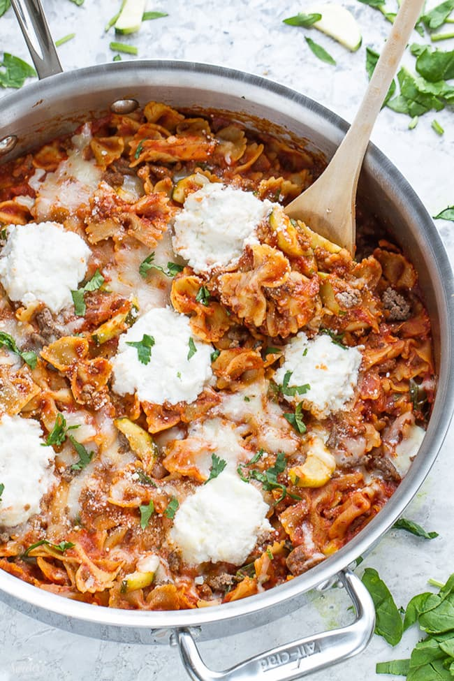 Easy Skinny Skillet Lasagna | Make Life Sweeter