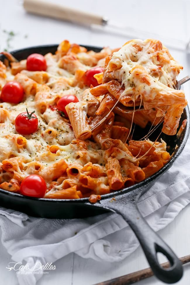 Chicken Mozzarella Pasta Bake | Cafe Delites