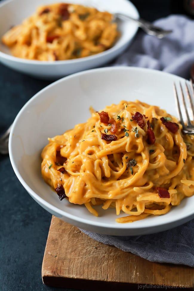 Creamy Butternut Squash Alfredo Pasta | Joyful Healthy Eats