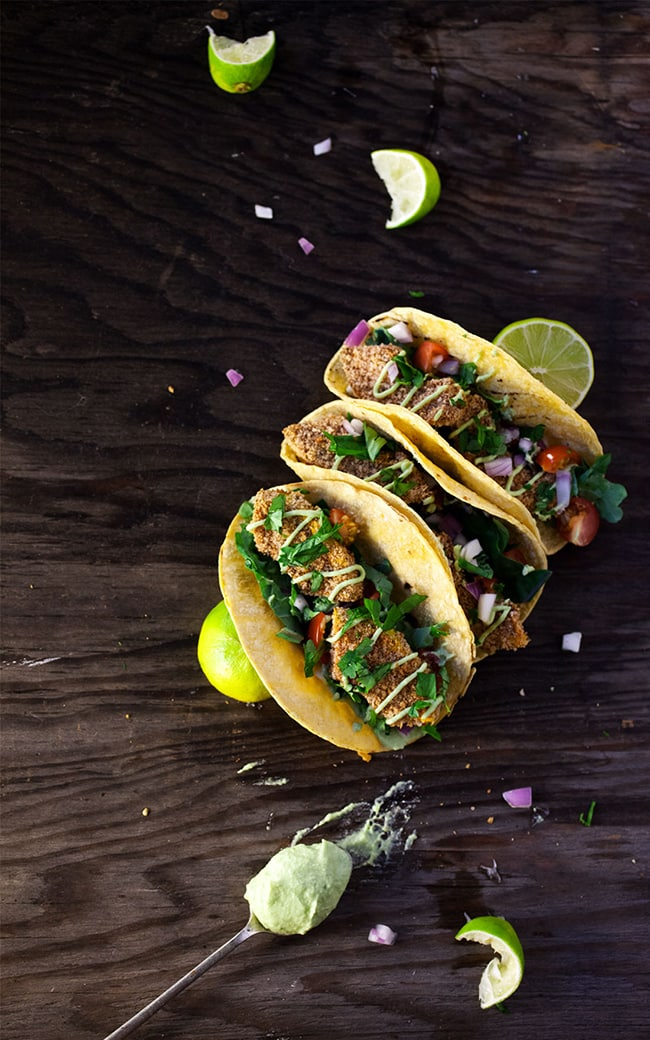 Crispy Squash Tacos with Jalapeno Lime Crema | Natural Girl Modern World