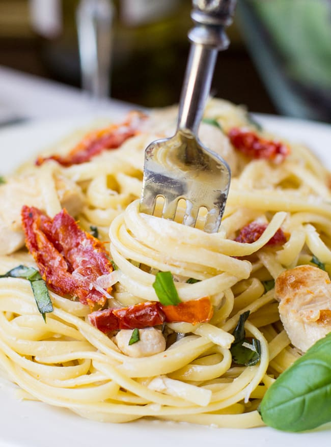 Sun-dried Tomato and Basil Pasta with Chicken | Culinary Hill