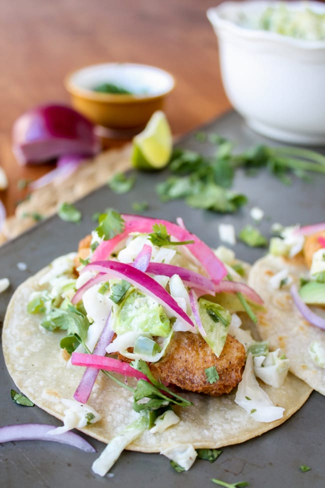 Beer-Battered Fish Tacos | The Food Charlatan