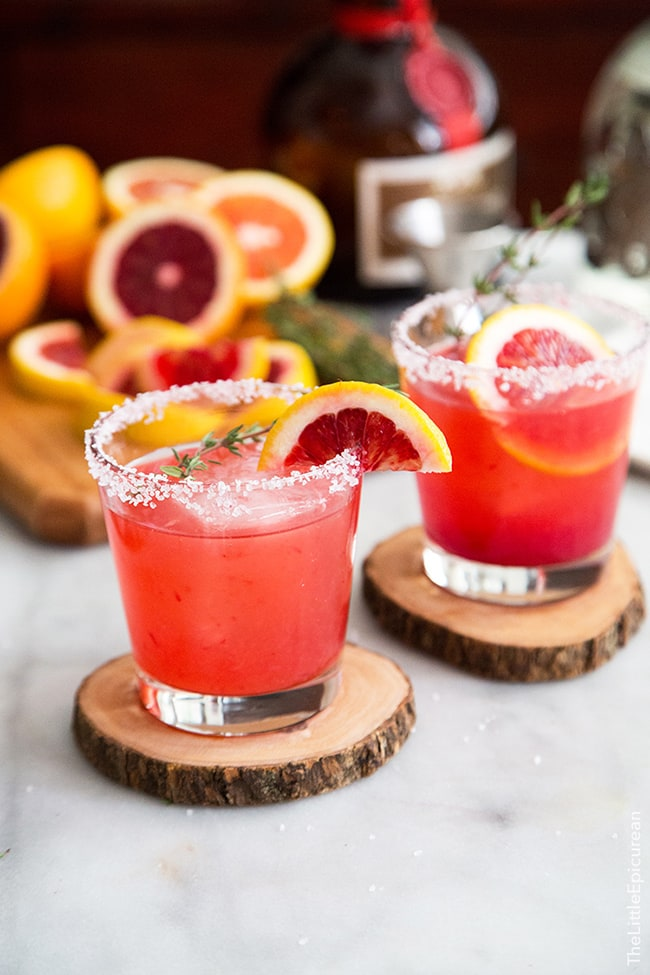 Blood Orange Margarita | The Little Epicurean