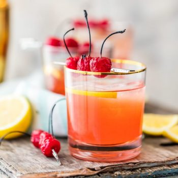 You haven't lived until you've tasted a Best Ever Broiled Cherry Whiskey Sour! Made with roasted cherries and homemade sour, this is the BEST St. Patrick's Day drink! Cheers to being Irish with this perfect cocktail!