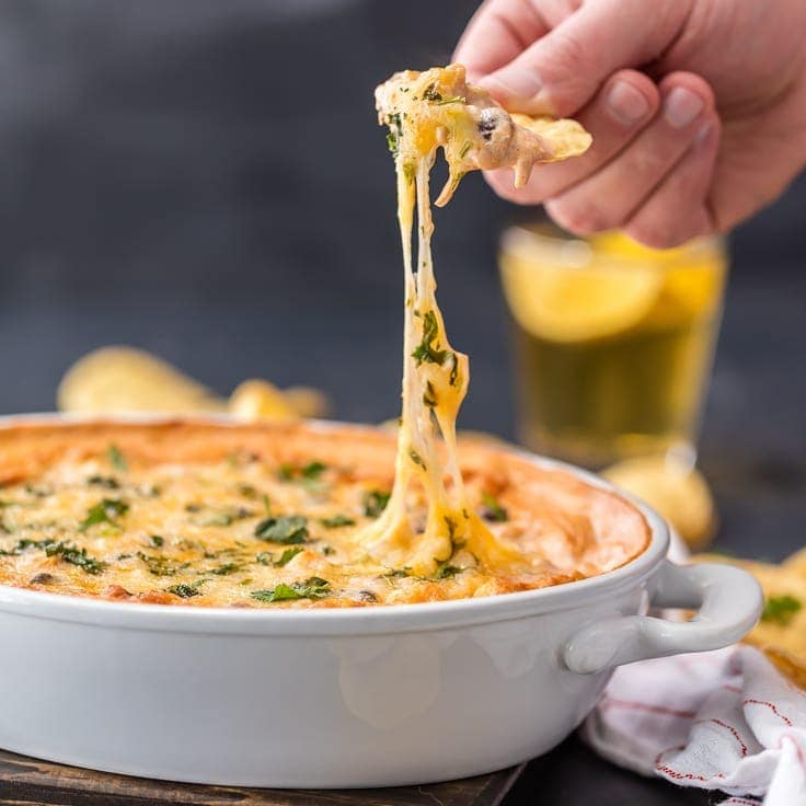 Spicy Cheesy Chicken Enchiladas Dip