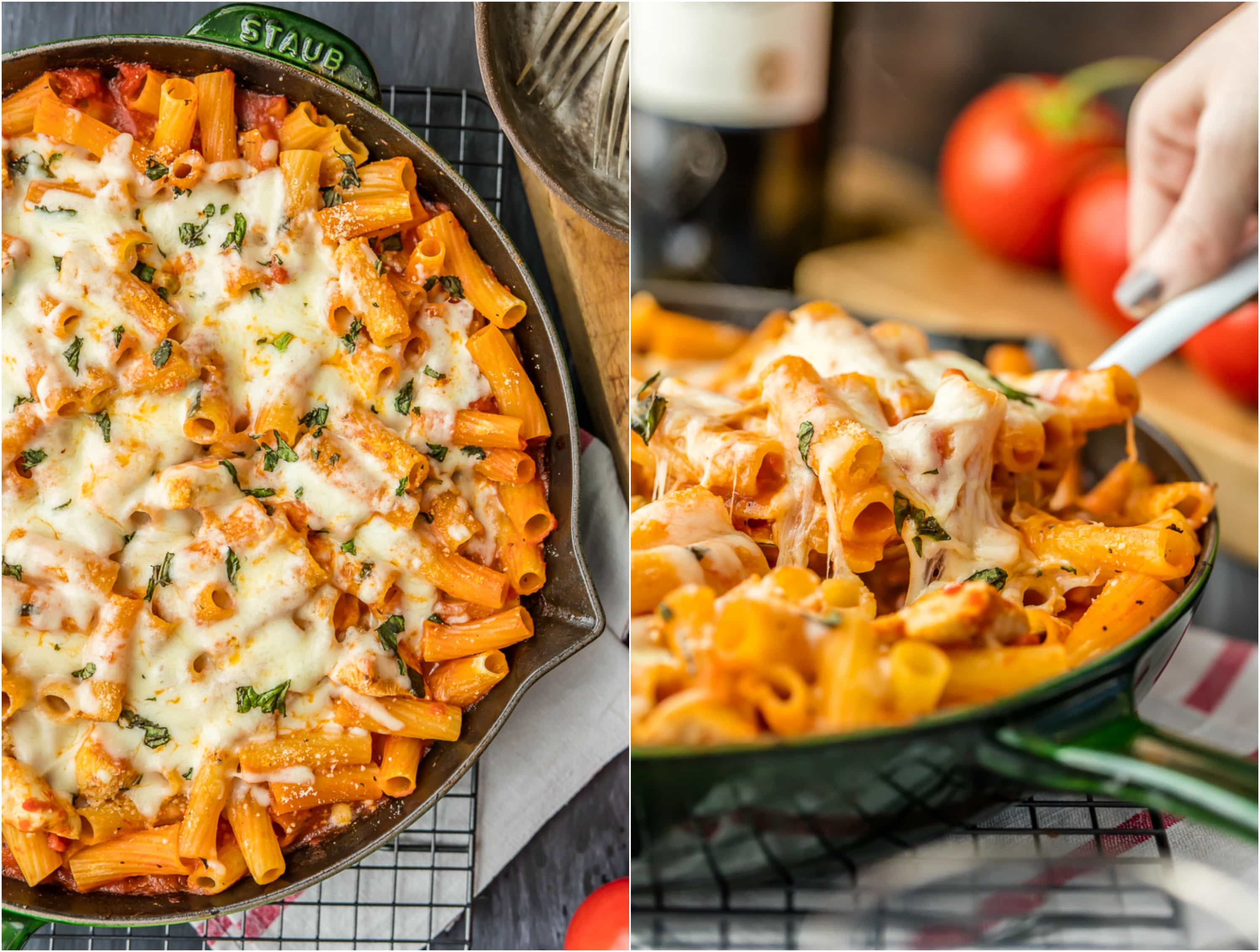 One pot chicken parmesan pasta only 6 ingredients video chicken parmesan pasta recipe uses only 6 ingredients and made in one pan this is forumfinder Gallery