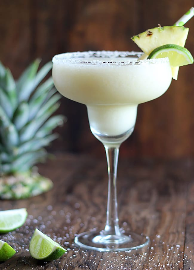 Frozen Coconut Pineapple Margarita | The Blond Cook