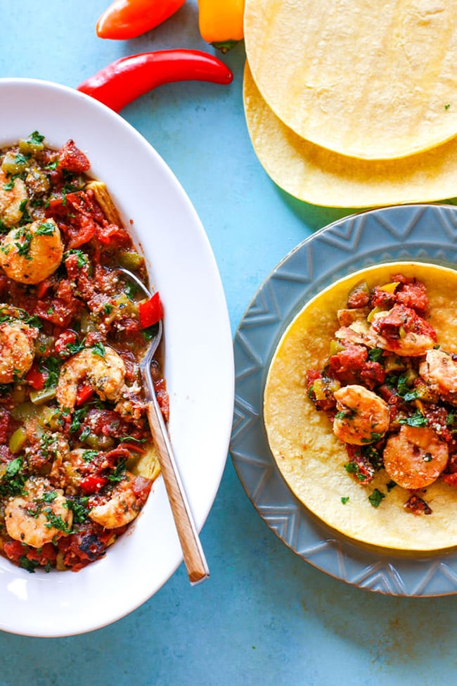 Easy Fire Roasted Shrimp Tacos | Cotter Crunch
