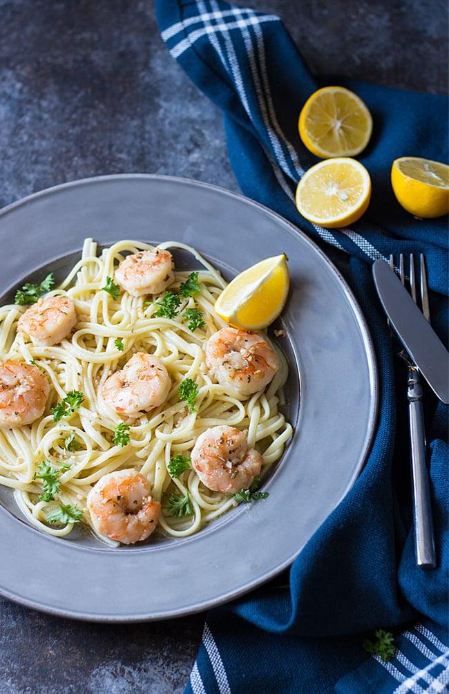 Easy Shrimp Scampi   The Blond Cook