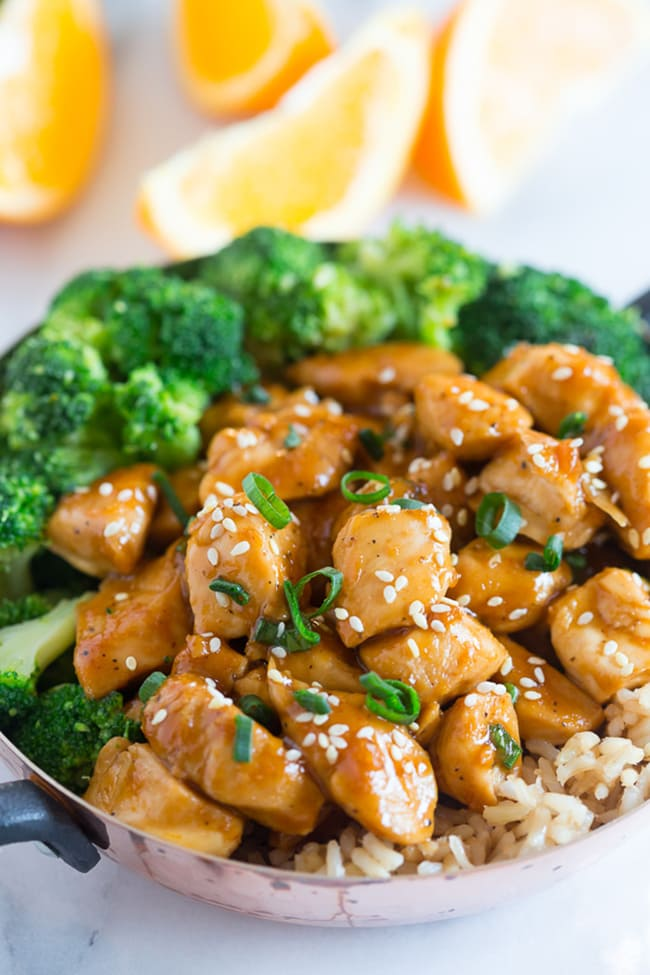 20 Minute Healthier Orange Chicken | Nutmeg Nanny