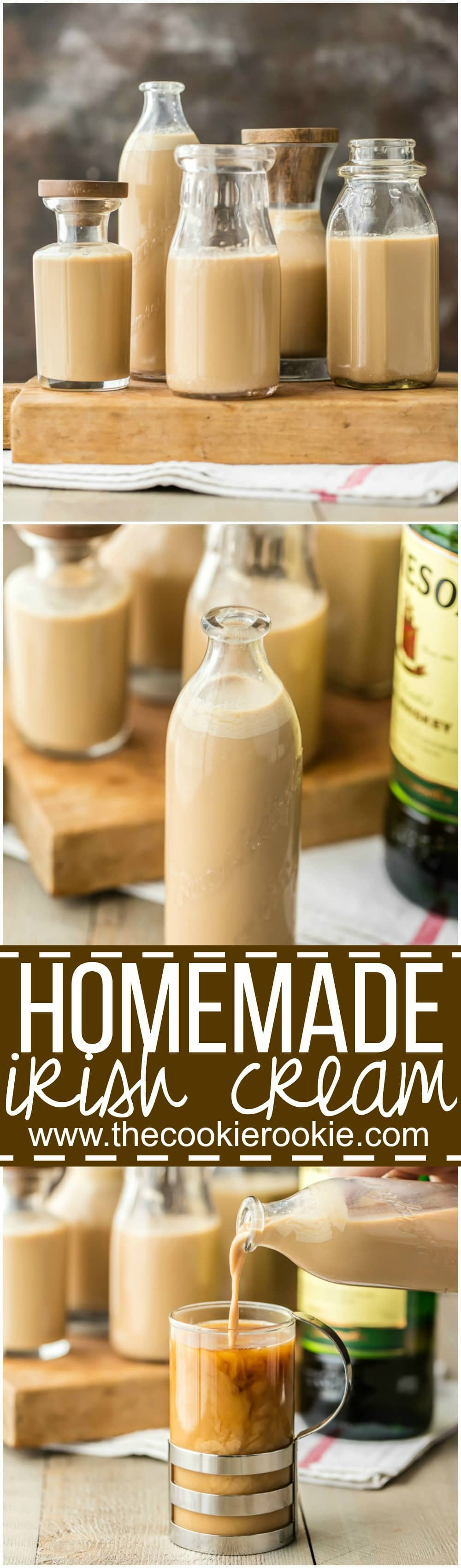 Homemade irish cream the cookie rookie for Easy mixed drinks to make at home