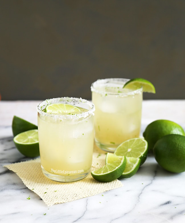 Fresh Lime Margarita | The Little Epicurean