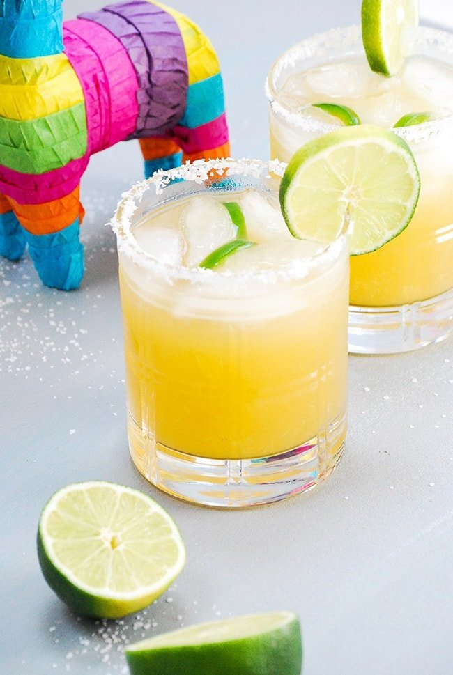 Fresh Pineapple Margaritas |