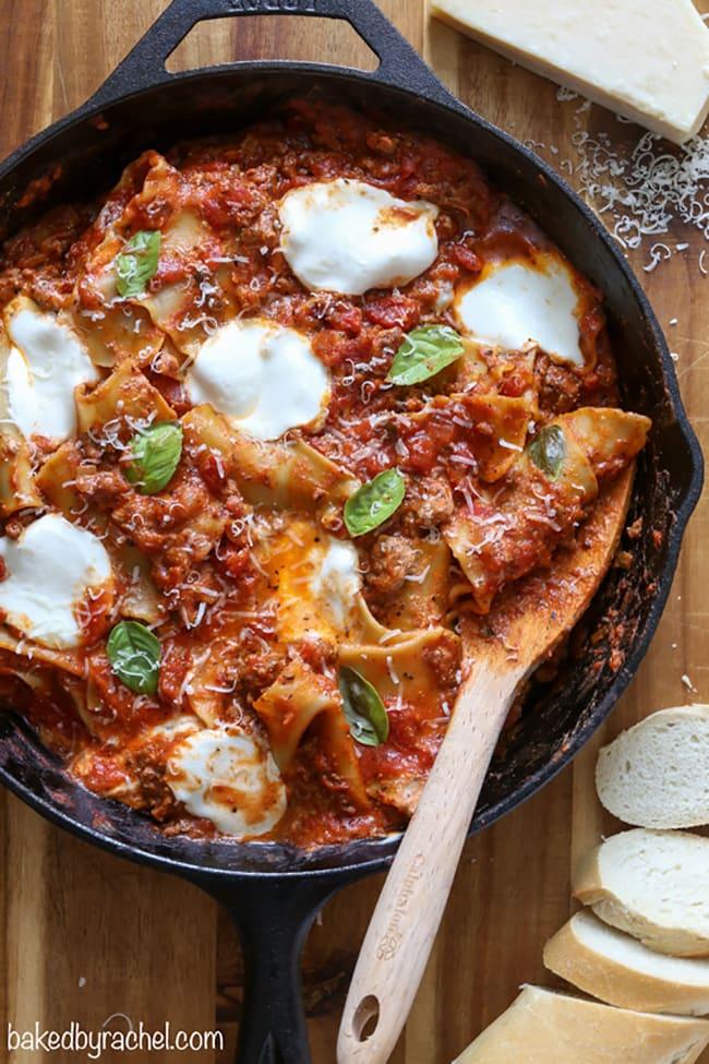 Easy Skillet Lasagna | Baked by Rachel
