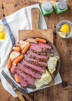 Crock Pot Corned Beef and Cabbage is a MUST MAKE easy St. Patrick's Day recipe! This easy slow cooker recipe for traditional corned beef and cabbage dinner cooks itself, without you needing to watch over the pot. This slow cooker corned beef and cabbage recipe is the best way to make this favorite dish. Simple but with all the flavor!