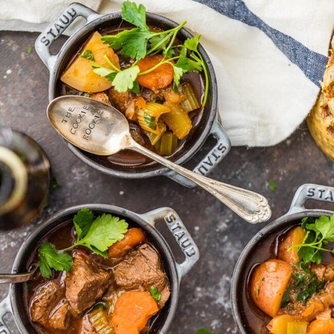 Guinness Beef Stew is a favorite Irish beef stew recipe in our house. We make this slow cooker beef stew for St. Patrick's Day every year, and we just can't get enough! It's the best Guinness stew and so easy to make!