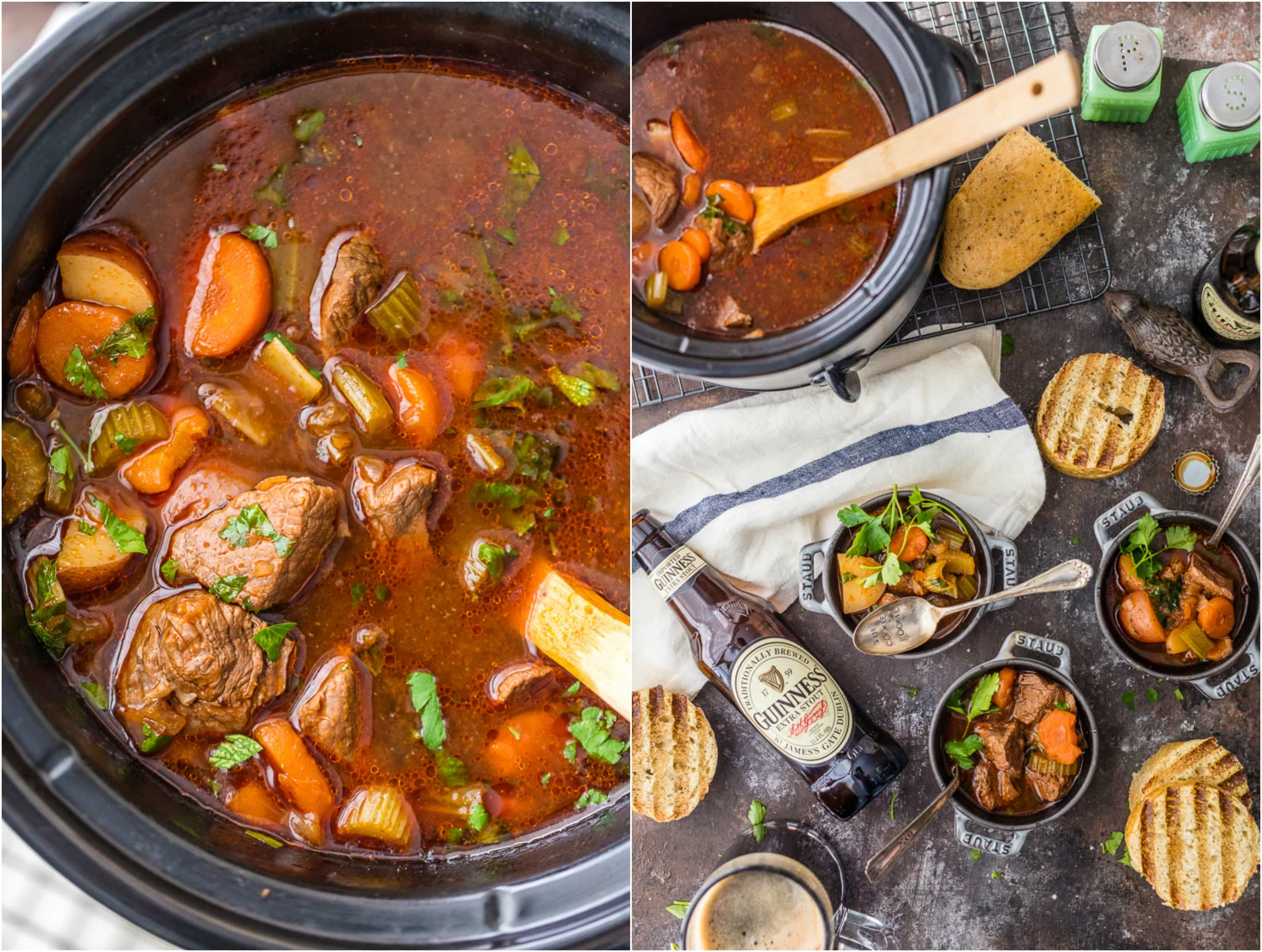 Guinness Beef Stew Easy Slow Cooker Beef Stew The Cookie Rookie