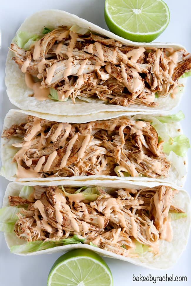 Slow Cooker Chicken Tacos | Baked by Rachel