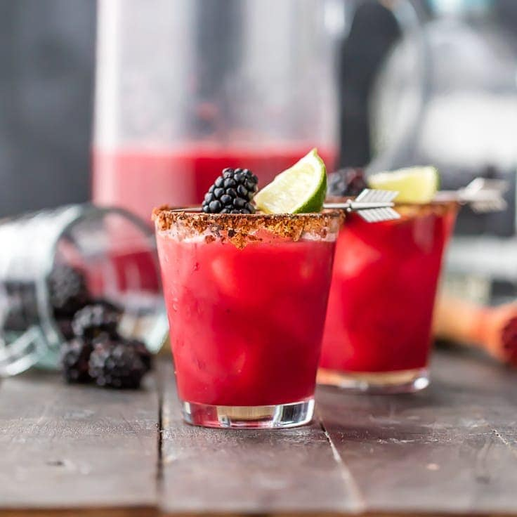 Blackberry Margaritas (Spicy Margarita Recipe)