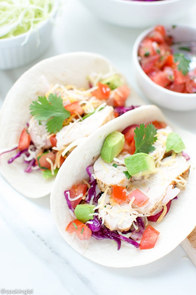 Tequila Lime Chicken Tacos | Cooking LSL