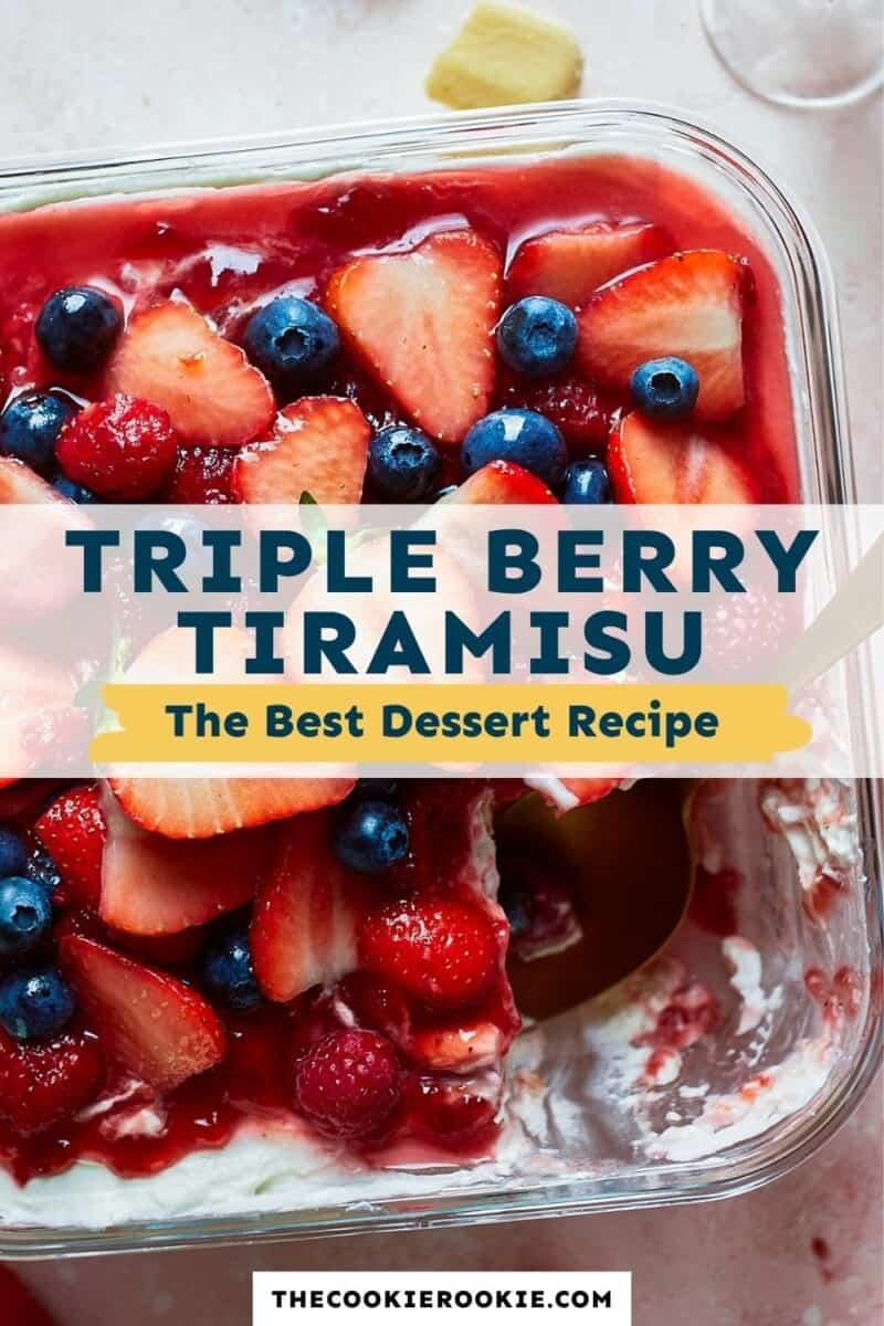 triple berry tiramisu pinterest