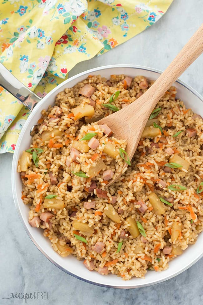 20 Minute Ham and Pineapple Rice | The Recipe Rebel