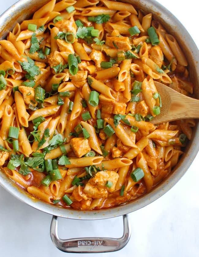 One Pot Chicken Enchilada Pasta | A Cedar Spoon