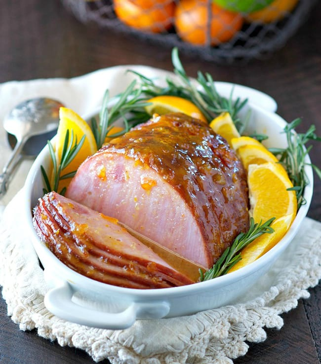 Easy Citrus Glazed Baked Ham | The Seasoned Mom