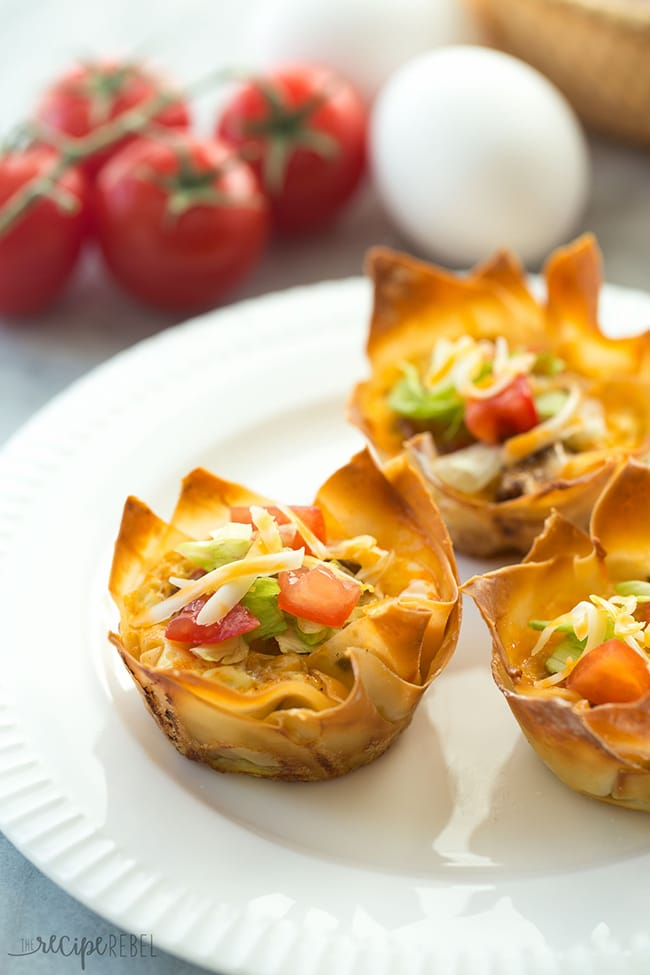 Mini Mexican Wonton Quiche | The Recipe Rebel