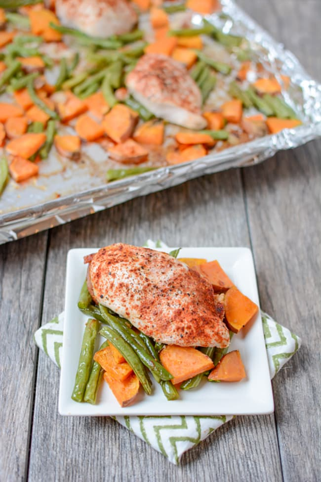 One Pan Roasted Chicken and Vegetables | The Lean Green Bean