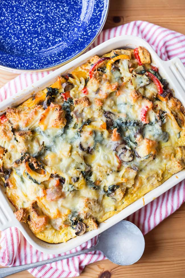 Roasted Vegetable Strata | Greens & Chocolate