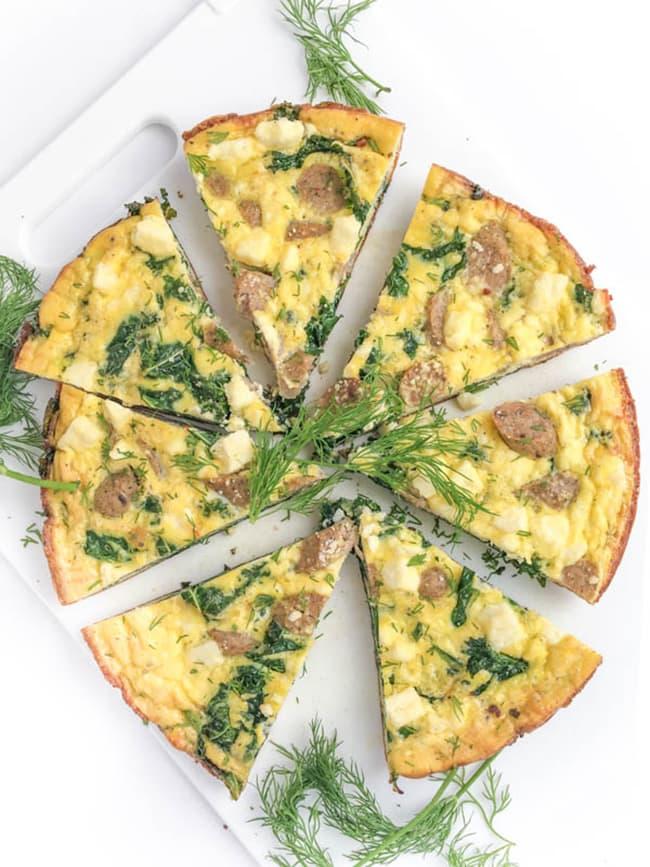 Sausage Kale and Feta Frittata   The Lemon Bowl