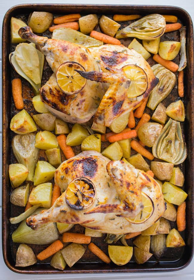 Sheet Pan Roast Chicken and Vegetables   Culinary Ginger