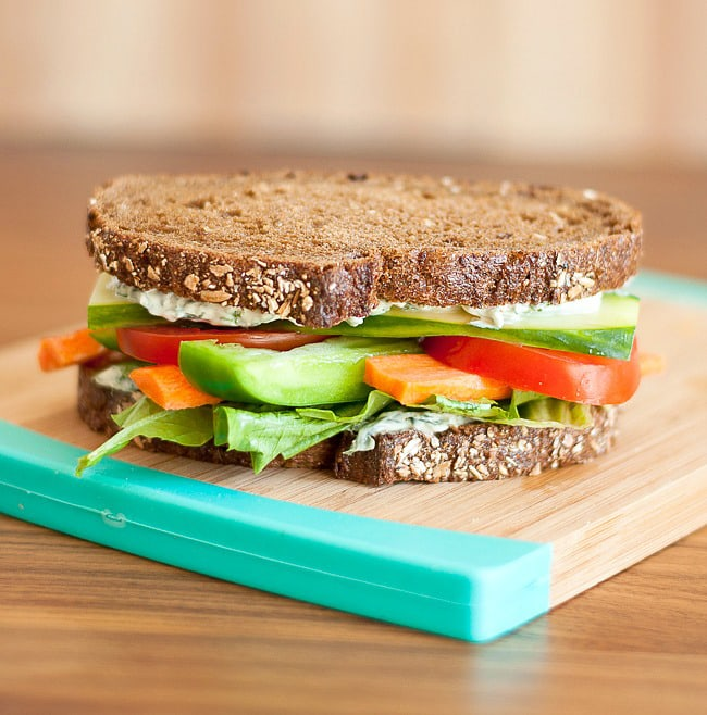 California Veggie Sandwich | Peas and Crayons