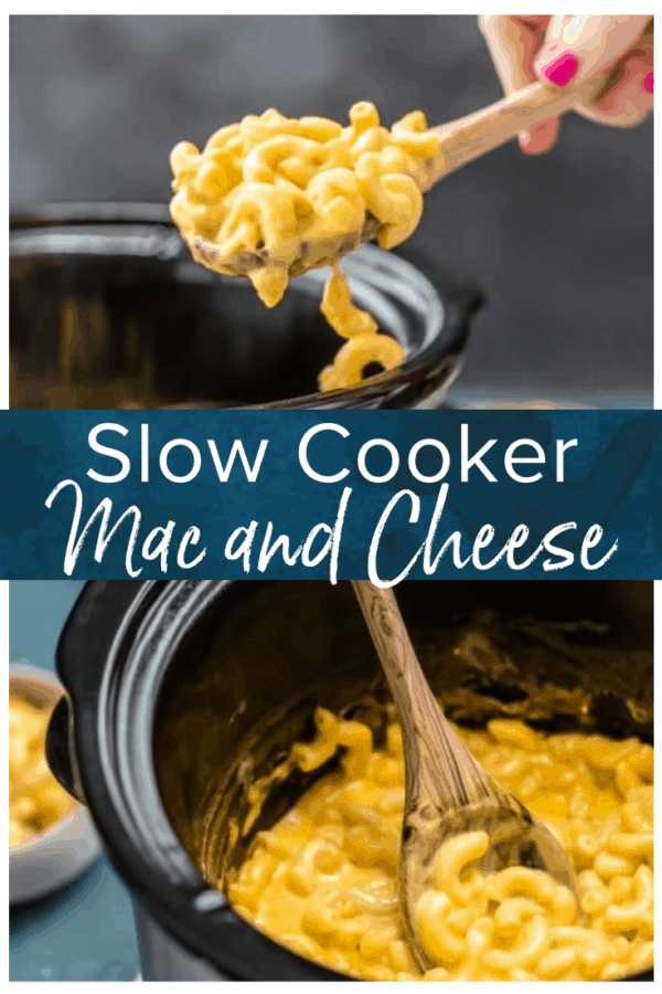 slow cooker mac and cheese pinterest photo