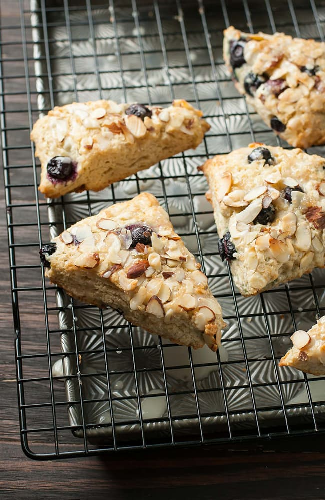 Almond Blueberry Scones   Peas and Crayons