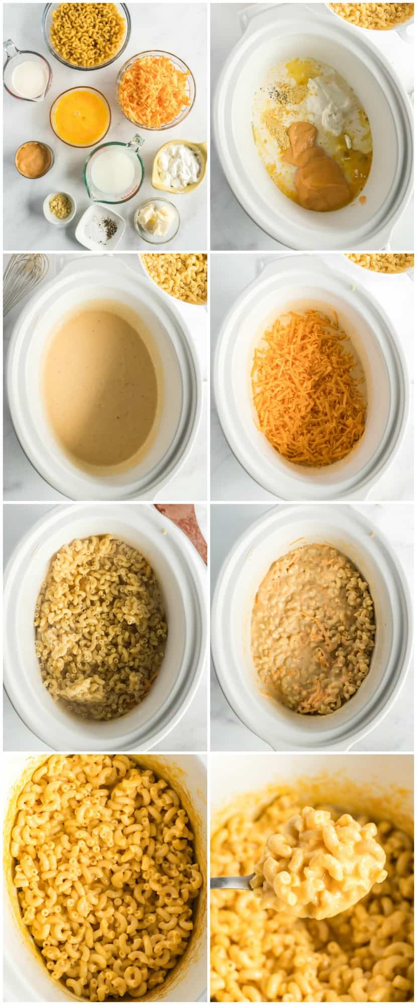 how to make crockpot mac and cheese step by step process shot photos