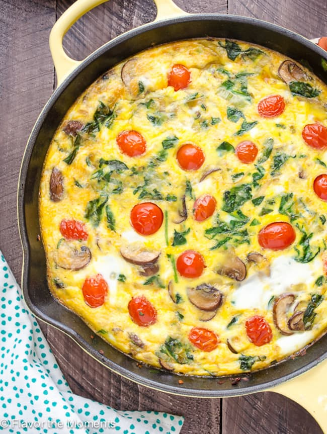 Skillet Crustless Quiche Primavera | Flavor the Moments
