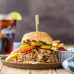 Wow the entire family with Slow Cooker Bacon Cheeseburger Sloppy Joes! SO EASY, creamy, delicious, and loved by all! This is our favorite weeknight meal we can throw in the crockpot and forget about!
