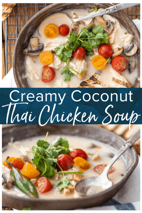 thai coconut chicken soup pinterest photo
