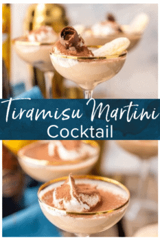 tiramisu martini in glass
