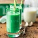 Vanilla Mint Green Milk for St. Patrick's Day! (Leprechaun Milk)