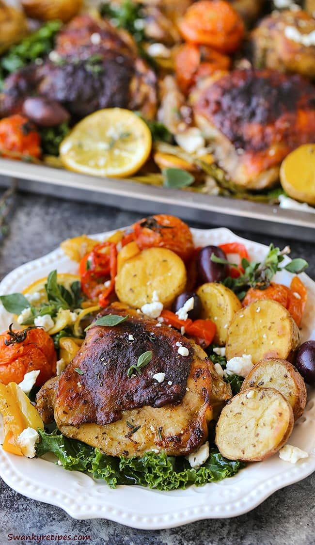 One Pan Greek Chicken | Swanky Recipes