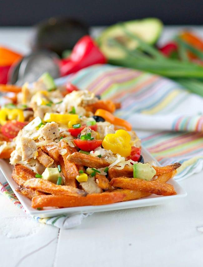 Skinny Chicken Taco Fries   The Seasoned Mom