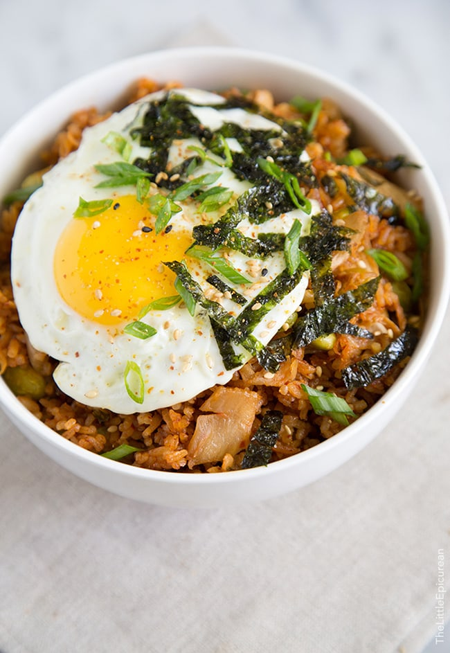Baked Kimchi Fried Rice | The Little Epicurean