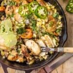 Skinny One Pan Caribbean Jerk Chicken Skillet