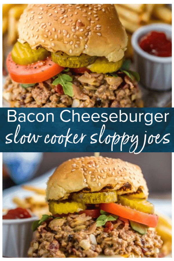 bacon cheeseburger sloppy joes pinterest photo