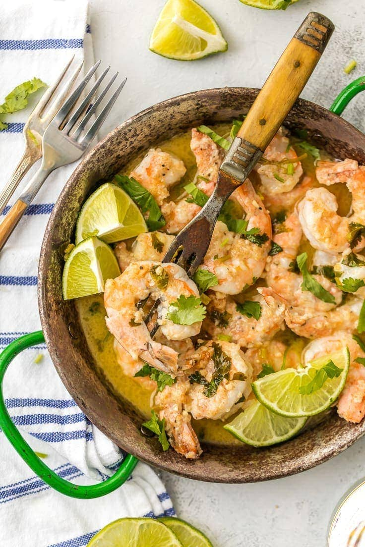 One pot cilantro lime shrimp scampi the cookie rookie make dinner or appetizer night easy with one pot cilantro lime shrimp scampi forumfinder Gallery