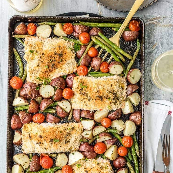 Honey Mustard Salmon and Potatoes Sheet Pan Dinner